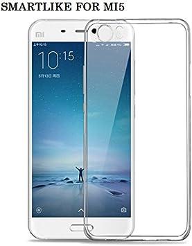 SmartLike Xiaomi Mi5 Exclusive Plain Flexible Transparent Back Cover for Xiaomi Mi5 GPS Accessories