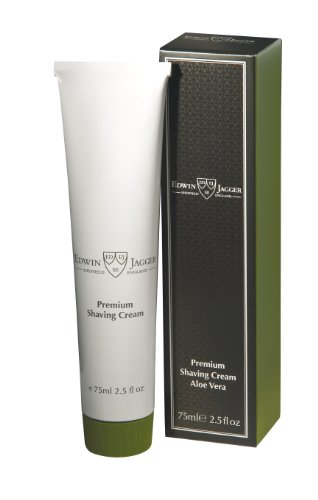 - Edwin Jagger 99.9% Natural Premium Shaving Cream, 75ml Tube - Aloe Vera,2.5-ounce