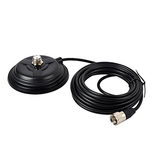 [해외]HYS TC-110M CBVHFUHFHF Ham Radio Antenna Magnet Mount SO-239 Connection Style W5M(16.4ft) RG58 Coaxial Cable PL-259 Plug / HYS TC-110M CBVHFUHFHF Ham Radio Antenna Magnet Mount SO-239 Connection Style W5M(16.4ft) RG58 Coaxial Cable...