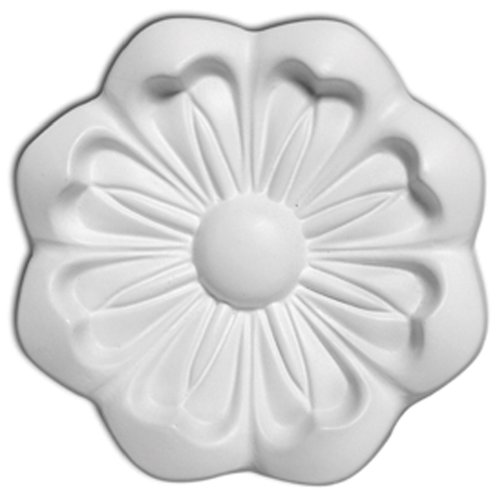 Focal Point 85033 Cosmos Rosette 5 1/2-Inch Diameter by 11/16-Inch Projection, Primed White
