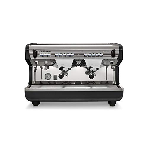 Nuova Simonelli Appia II Volumetric 2 Group Espresso Machine MAPPIA5VOL02ND001 with Free Espresso Starter Kit and 3M Water Filter System