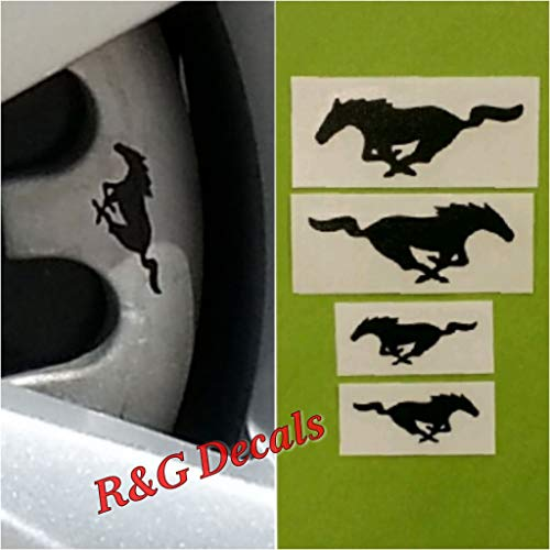 er HIGH TEMP Decal Sticker Set of 4 Decals (Black) ()