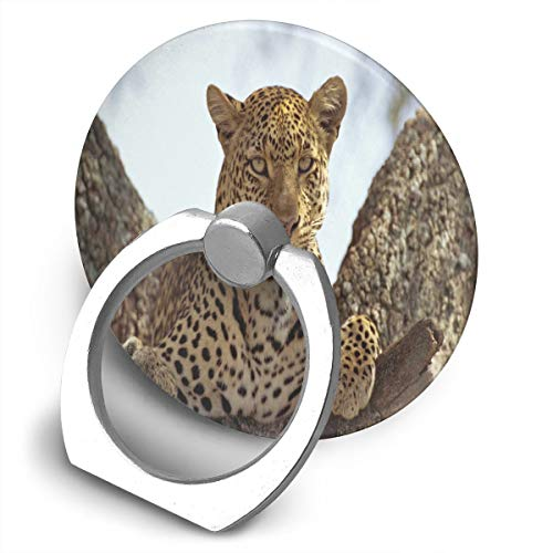 Ring Holder Spotted Panther Wild Life Adjustable 360°Rotation Phone Stand Compatible iPhone X 8 7 6 Plus,Samsung Galaxy and Tablets