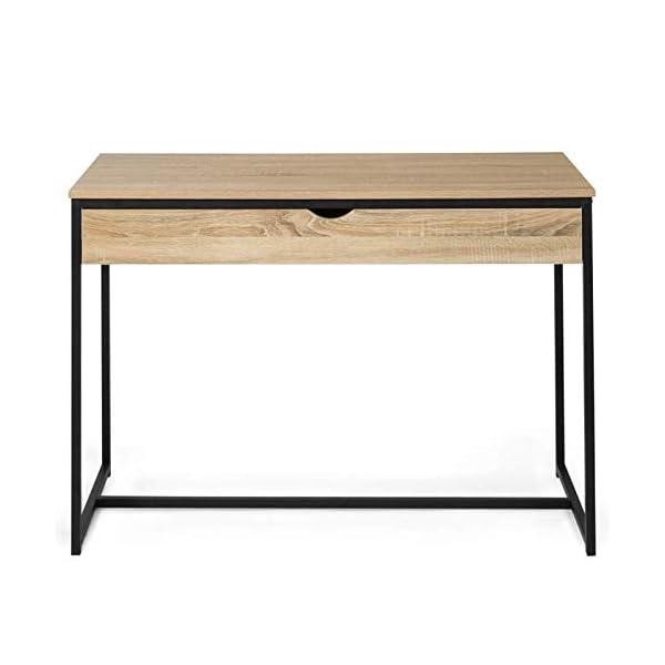 IDMarket – Bureau 1 tiroir DETROIT design industriel