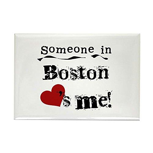 CafePress Boston Loves Me Rectangle Magnet Rectangle Magnet,