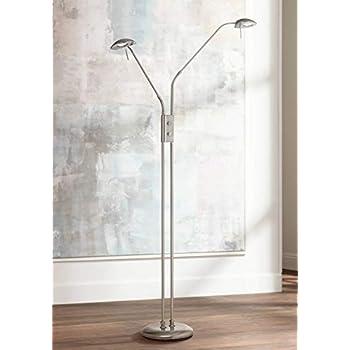 Casper Modern Pharmacy Floor Lamp Led Brushed Steel