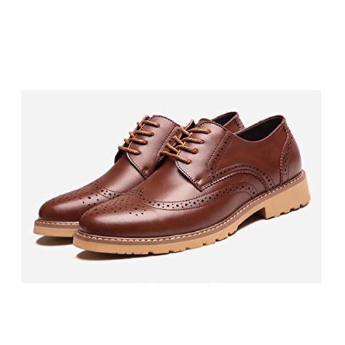 Chaussures Sculpté Business Bloc LEDLFIE Chaussures Hommes Hommes Chaussures brown Lacets Conseils pEqqU5z