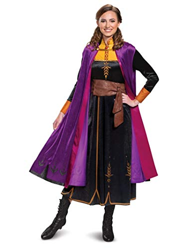 Disguise Women's Disney Anna Frozen 2 Deluxe Adult Costume, Black, Medium