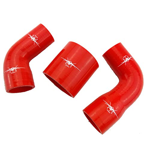 - I33T Intercooler Silicone Hose Kit for Subaru Legacy Type A-C (Legacy B4 BE5 BH5 EJ20 EJ25 Type A-C, Intercooler - Red - with Clamp)