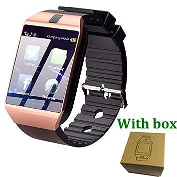 SMSTG Bluetooth Smart Watch Teléfono Dz09 con cámara Tarjeta SIM ...