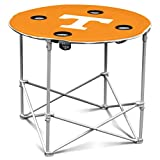 Logo Brands Tennessee Volunteers Collapsible Round Table With 4 Cup Holders And Carry Bag
