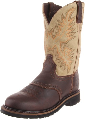 Justin Original Work Boots Men's Stampede Work Boot,Waxy Brown/Sawdust,11 EE US