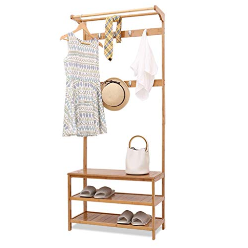 Amazon.com: YAN JUN Coat Rack, Floor Rack with Shoe Rack ...