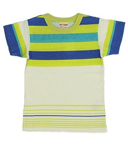 Bit'z Kids, Crazy Stripe Tee in Off White (c) ~ -