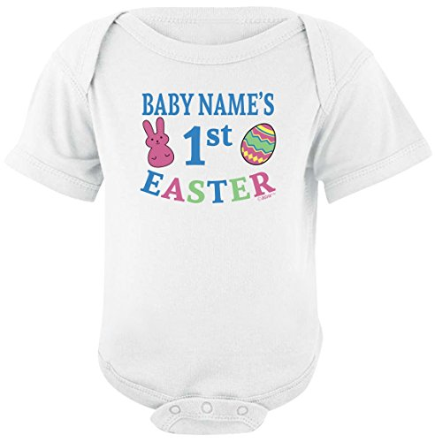 Personalized Baby Gifts Personalized Baby's First Easter Custom Bodysuit 6 Months White