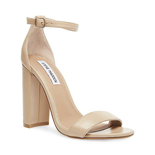 Steve Madden Women's Carrson Dress Sandal, Blush Leather, 6.5 M US