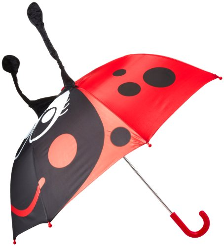 Western Chief Girls' Little Character Umbrella, Lucy the Ladybug, One Size (Accessories Ladybug)