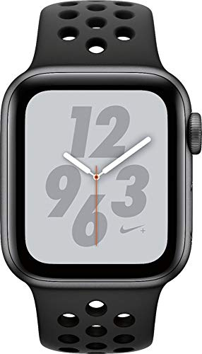 Apple Watch Nike Series 4 (GPS, 40MM) - Space Gray Aluminum Case with Anthracite/Black Sport Band (Renewed)