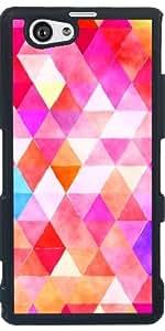 Funda para Sony Xperia Z1 Compact - Triángulos Retro 03 by Aloke Design