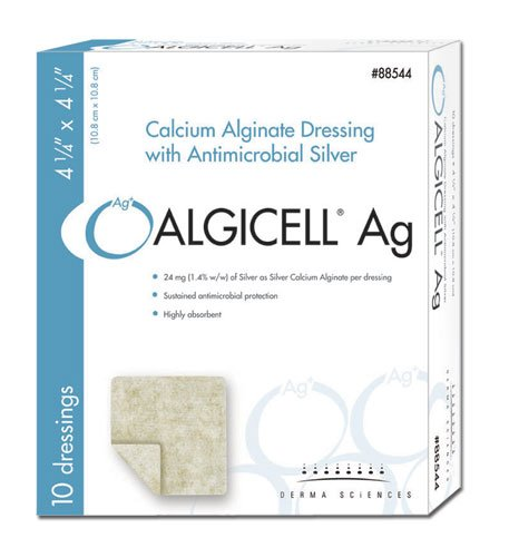 ALGICELL Ag Silver Calcium Alginate - 4.25'' x 4.25'' - 10ct by DermaScience