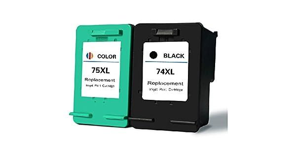 Amazon.com: 74 x l 75 x l Cartucho de tinta para HP DeskJet ...