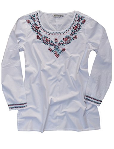 Cotton-Tunic-Top-Kurti-Blouse-Hand-Embroidered