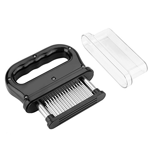 Meat Tenderizer with Cleaning Brush Stainless Steel Needle Blade Kitchen Cooking Tool for Tenderizing Steak Beef
