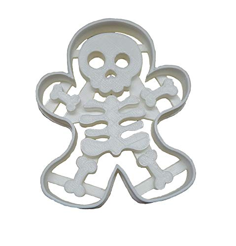 GINGERBREAD SKELETON MAN BODY BONE BONES HALLOWEEN PARTY TREAT SNACK SCARY VOO DOO DOLL HOLIDAY COOKIE CUTTER BAKING TOOL USA PR113 -