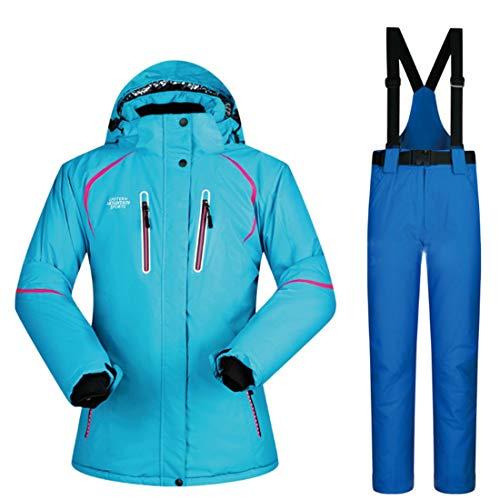RABILTY Chaqueta de esquí de Snowboard para Mujer Chaqueta de Snowboard Impermeable a Prueba de Viento (Color : 07, Size : M)