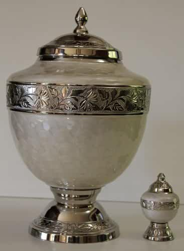 New World Accents Adult Funeral Cremation Urn With Keepsake, Gorgeous Cremation Urns
