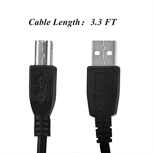 SLLEA USB Cable PC Laptop Data Sync Cord for Magicard Enduro+ Plus, Enduro Duo MAG, Tempo, MC200, Rio Pro & Pro Duo ID Card Printer