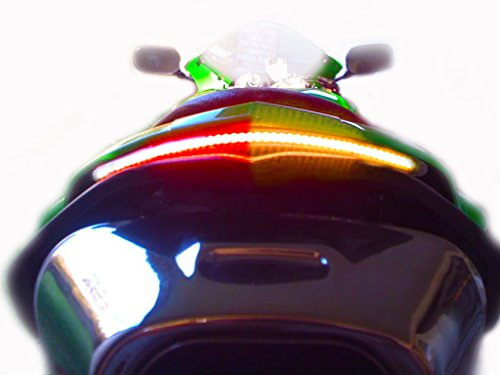 - BIKELITEZ Kawasaki 07-08 ZX6 Integrated Tail Light Conversion Kit Fender Eliminator ZX6R