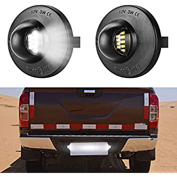 BRIGHT SMD LED License Plate Light for 1990-2014 Ford F-150 Pickup Truck F250 F350 VOFONO 1 Pair
