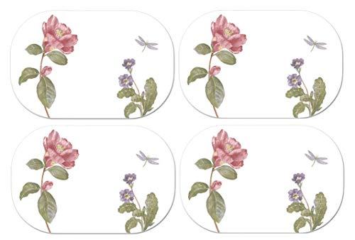 4 Corelle Coordinates Reversible Placemats - Camellia - Washable Plastic