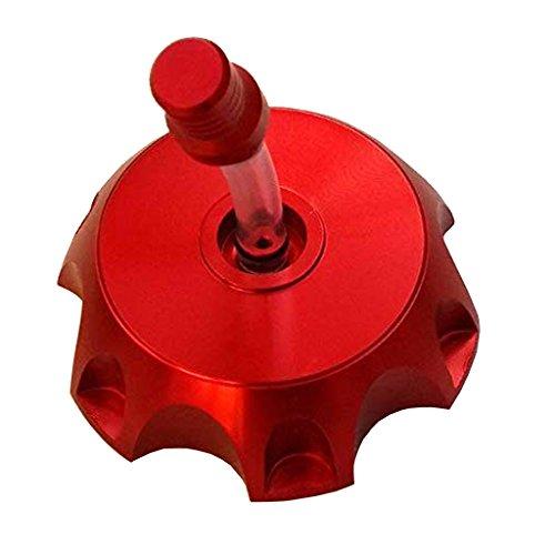 TDPRO CNC Aluminum Gas Fuel Tank Cover Cap with Breather Valve For 50cc 70cc 90cc 110cc 125cc 140cc 150cc 160cc Pit Dirt Motor Bike (Red)