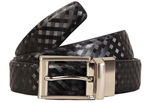 SCHARF Men's Reversible Leatherette Belt