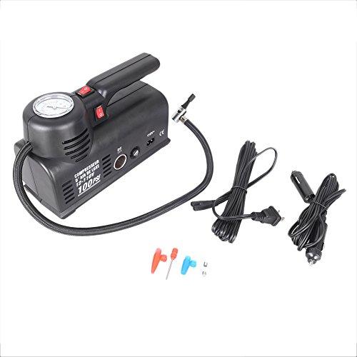 GZYF Portable Mini Air Compressor, 12V Car Auto Handheld Electric Air Pump Tire Inflator with Carry Bag for Car Truck ATV SUV