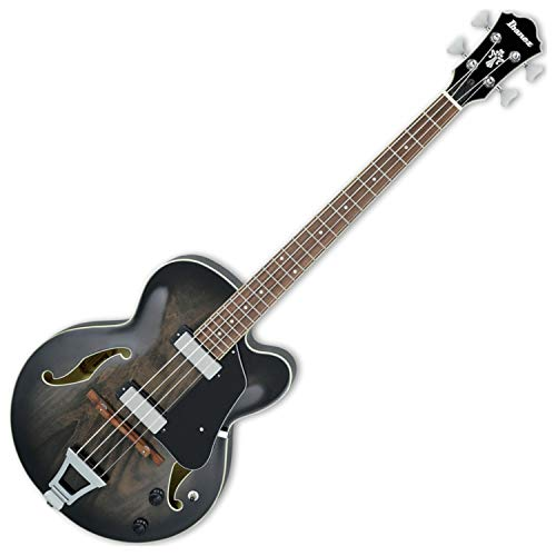 Ibanez AFB200 TKS Transparent Black Artcore Bass Semi-Hollow Bass Guitar