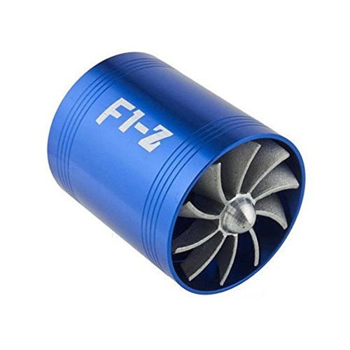 F1-Z Double Supercharger Turbine Turbo charger Air Intake Fuel Saver Fan (Universal Supercharger)