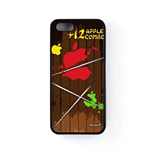 Ninja Fruits Funda Protectora Snap-On en Silicona Negra para Apple® iPhone 5 / 5s de Gangtoyz + Se incluye un protector de pantalla transparente GRATIS