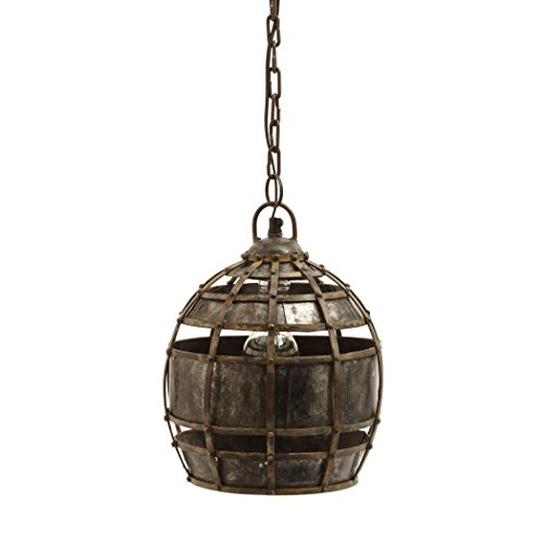 Dimond Home Round Fortress Pendant Light (Gilded Iron Chain)