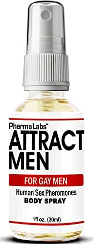 PhermaLabs Pheromones Body Spray For Gay Men- 1oz (30 ml)- Attract Men Instantly- Highest Concentration Of Pheromones Possible- Increases Sex Drive- Fresh & Long-lasting Smell