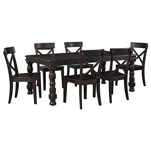 Ashley Gerlane 7 Piece Dining Set in Dark Brown