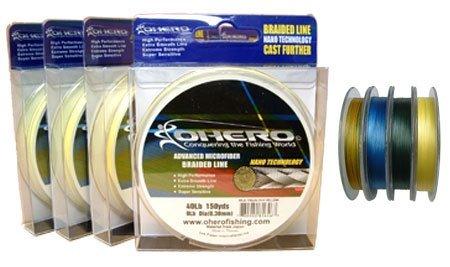 Ohero Advanced Microfiber Braided 15 LB, 150 YD Spool, 0.12 mm,Blue