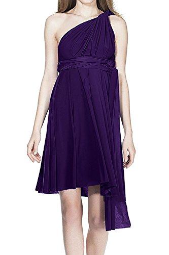 IWEMEK Women's Infinity Convertible Multi Way Wrap Halter Wedding Bridesmaid Dress Short Prom High Elasticity Cocktail Evening Gown -