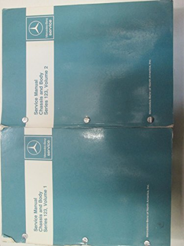 Mercedes Benz Series 123 Chassis & Body Service Manual 2 VOLUME SET Used Books *