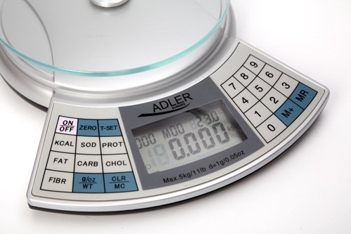 Multicolour Adler Kitchen Scale with analiser AD 3133