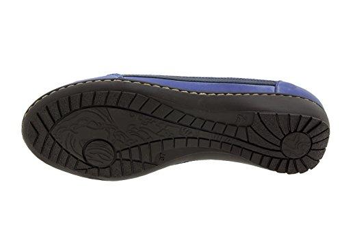 Calzado mujer confort de piel Piesanto 4751 deportivo plantilla extraíble zapato cómodo ancho Marino