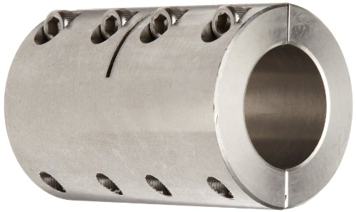 SPX Series Ruland Manufacturing Co Inc SPX-12-8-F 1215 Lead-Free Steel Bore Clamp-On Rigid Coupling Bore Black Oxide Side 1: .7500 in Side 2: .5000 in
