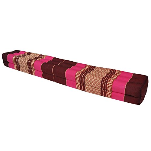 Thai cushion bolster , pillow, sofa, imported from Thaïland, relaxation, beach, pool, meditation garden Bordeaux/Pink (81411) by Wilai GmbH